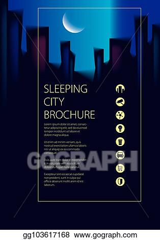 Vector Illustration - Night city traveling tourist guide book