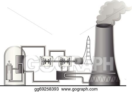 Clip Art Vector - Nuclear power plant Stock EPS gg69258393 - GoGraph