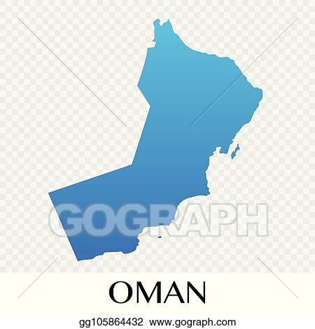 Vector Illustration - Oman map in asia continent illustration design