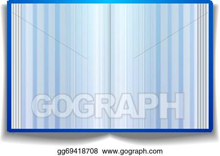 Vector Stock - Open book with blank pages Clipart Illustration