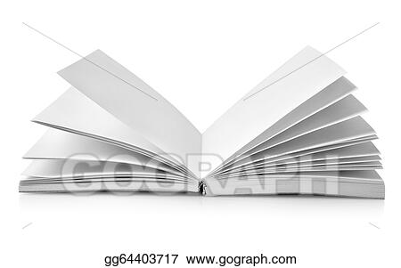 Stock Illustrations - Open book with fanned pages Stock Clipart