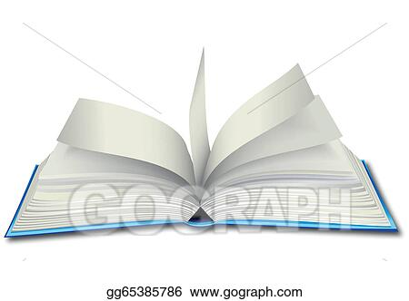 EPS Illustration - Opened book  Vector Clipart gg65385786 - GoGraph - opened book