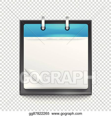 Vector Art - Paper diary on transparent background template for a