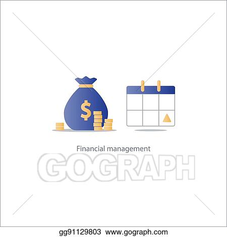 Vector Illustration - Pay day, monthly payment, calendar time period