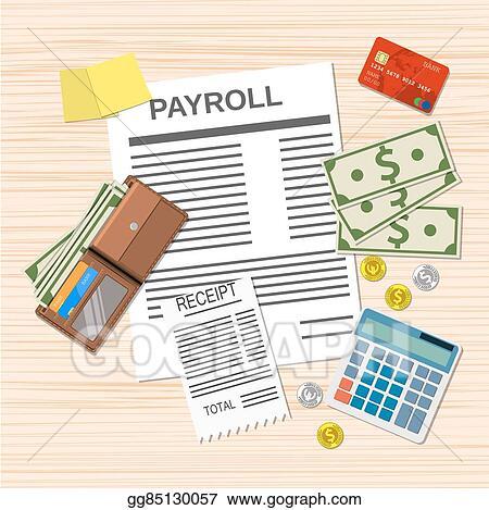 Vector Stock - Payroll invoice sheet,  Clipart Illustration