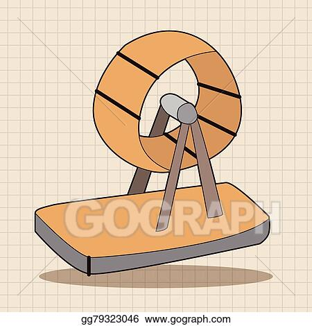 Vector Stock - Pet exercise wheel theme element vector,eps10