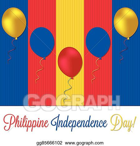 Vector Stock - Philippine independence day card in vector format