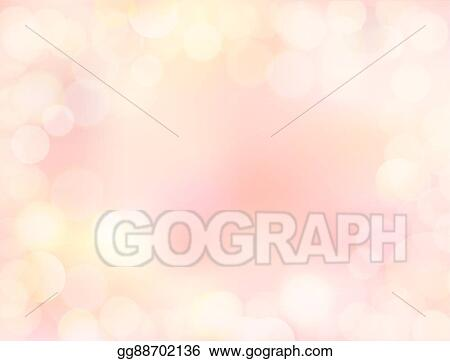 Vector Art - Pink gradient blank paper background with bokeh border