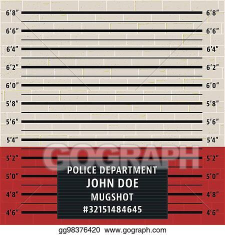 Vector Illustration - Police mugshot template Stock Clip Art