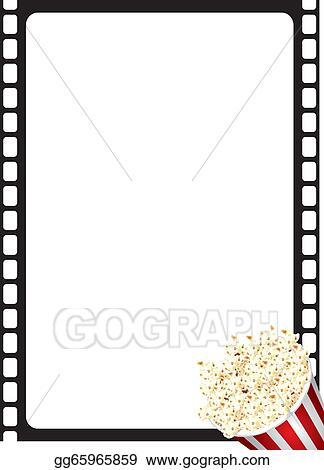 Stock Illustration - Popcorn movie frame Clipart Drawing gg65965859