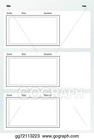 Vector Art - Professional of film storyboard template vertical