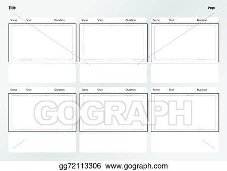 Vector Art - Professional of film storyboard template EPS clipart