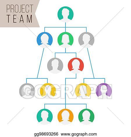 Vector Art - Project team vector employee group organization flat