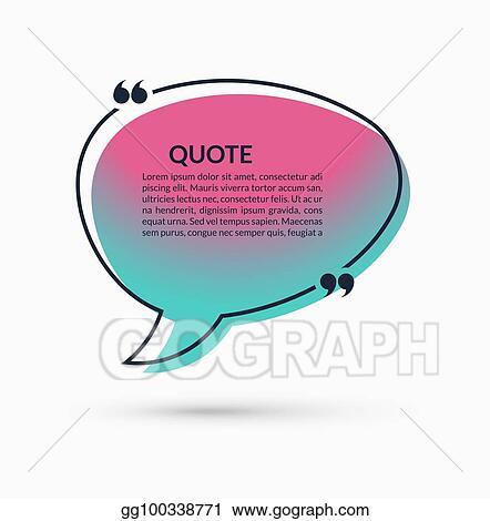 Clip Art Vector - Quote box on trendy gradient background vector
