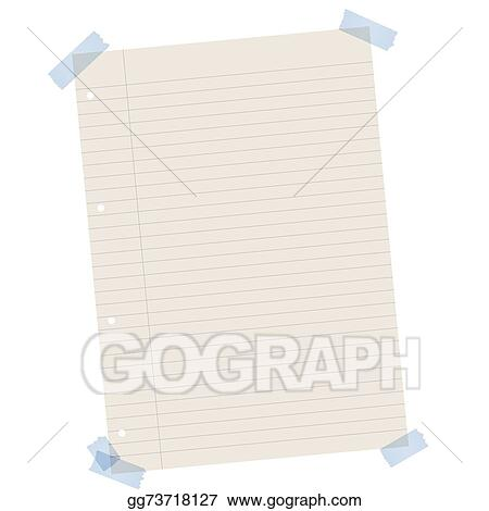 EPS Illustration - Recycling paper lined with colored tape Vector