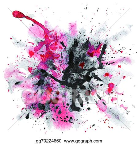 EPS Illustration - Red and black watercolor splash Vector Clipart