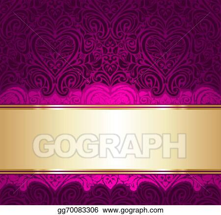 Vector Art - Red and gold invitation background EPS clipart