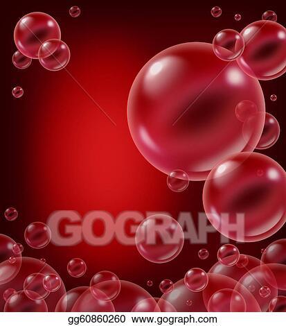 Stock Illustration - Red soap bubble design element Stock Art