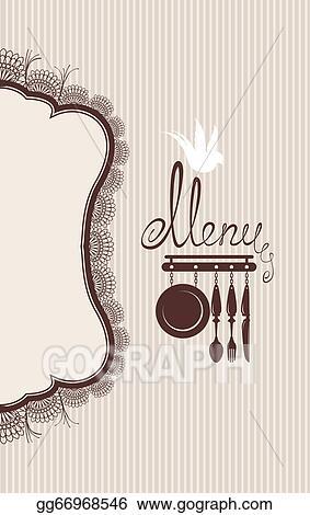 Vector Illustration - Restaurant menu design with lace table napkin
