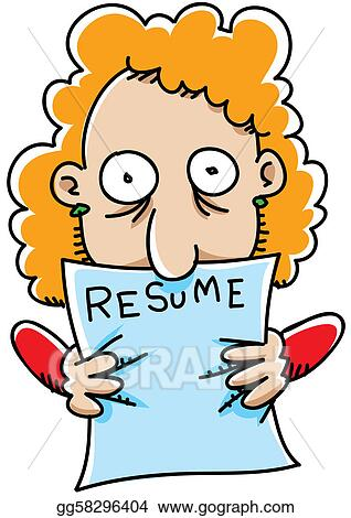 Drawing - Resume grip Clipart Drawing gg58296404 - GoGraph