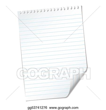Stock Illustrations - Ripped lined page Stock Clipart gg53741276 - lined page