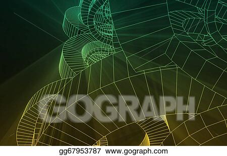Stock Illustration - Robotic wire mesh background Clipart