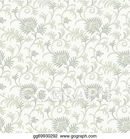 Vector Clipart - Royal fancy floral background Vector Illustration