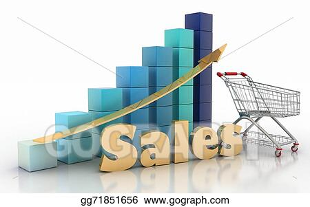 Drawing - Sales growth chart Clipart Drawing gg71851656 - GoGraph - Sale Chart