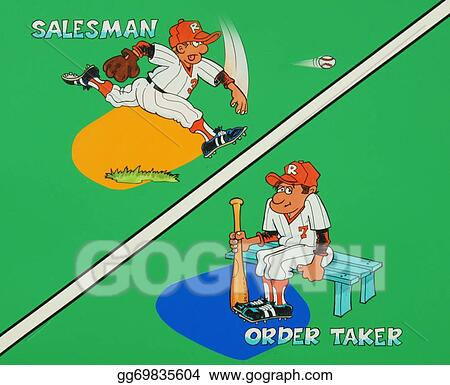 Stock Illustration - Salesman-order taker Clip Art gg69835604 - GoGraph