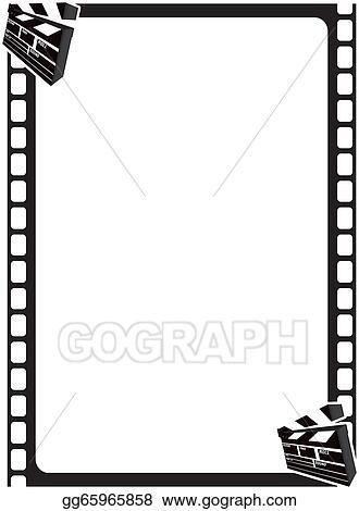 Stock Illustration - Scene clapper movie frame Stock Art