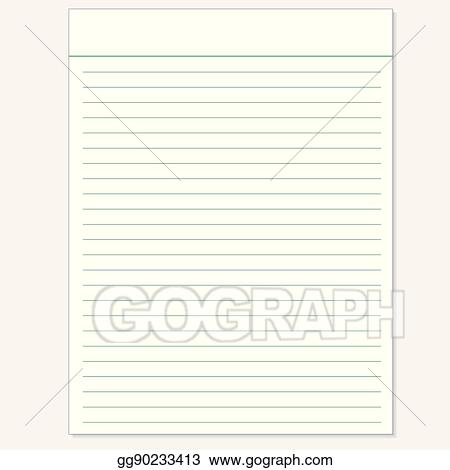Vector Art - School notebook paper sheet exercise book page