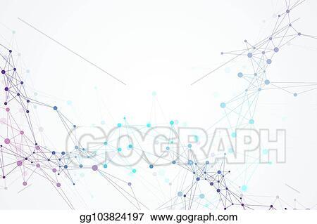 Vector Stock - Scientific vector illustration genetic engineering - molecule vs atom