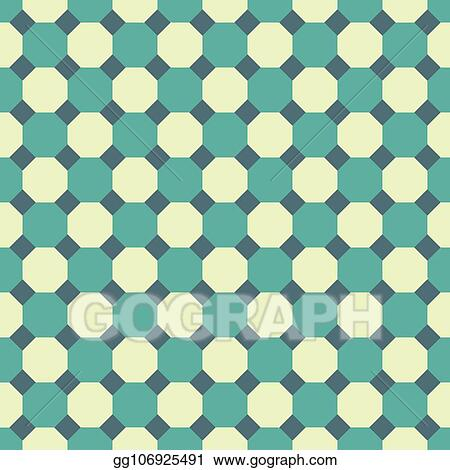 Vector Illustration - Seamless octagon pattern texture background
