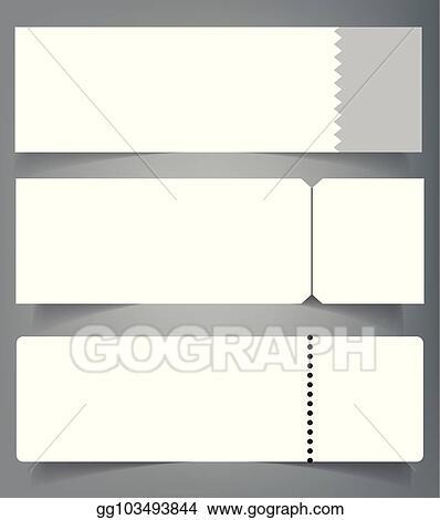 Vector Illustration - Set of blank event concert ticket mockup