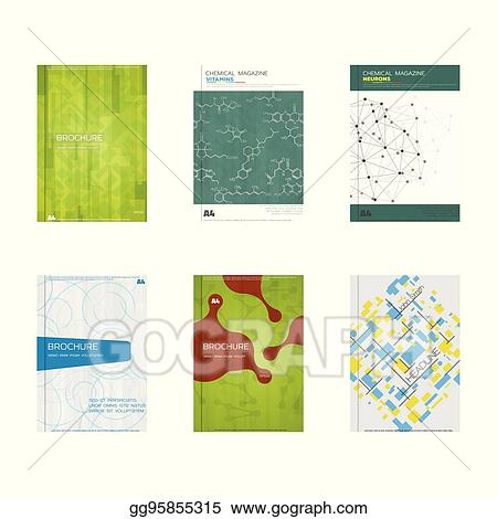 Vector Illustration - Set of book cover designs Stock Clip Art