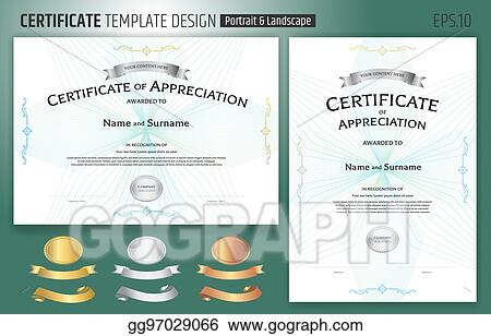 Vector Stock - Set of certificate of appreciation template with