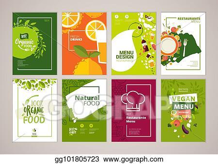 Clip Art Vector - Set of restaurant menu, brochure, flyer design