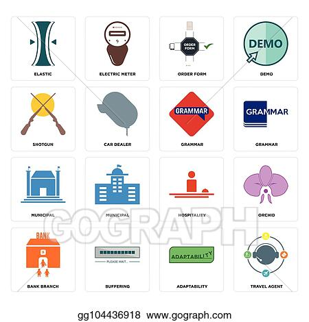 Vector Stock - Set of travel agent, adaptability, bank branch