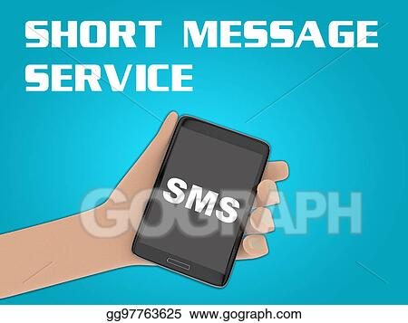 Stock Illustration - Sms - short message service concept Clip Art