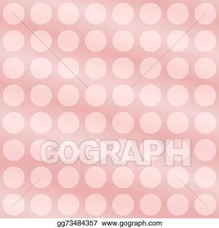 Clipart - Soft pink polka dot background Stock Illustration