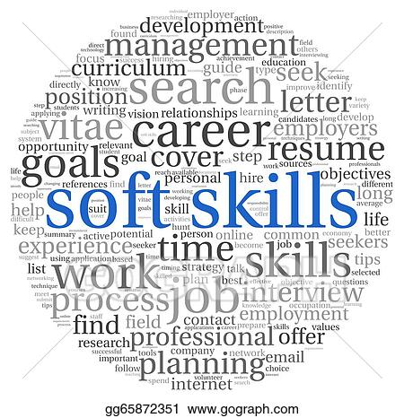 Clipart - Soft skills concept on white Stock Illustration - soft skills
