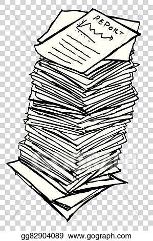 Vector Illustration - Stack of reports Stock Clip Art gg82904089