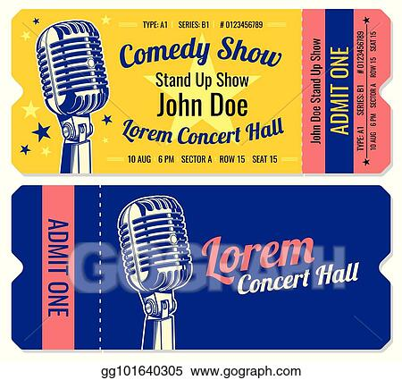 Vector Stock - Stand up comedy show entrance vector tickets template