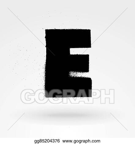 EPS Illustration - Stencil spray paint font detailed vector