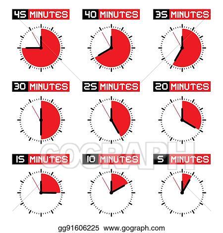Vector Illustration - Stopwatch set countdown clock vector time