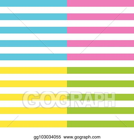 Vector Illustration - Stripes vector background with horizontal