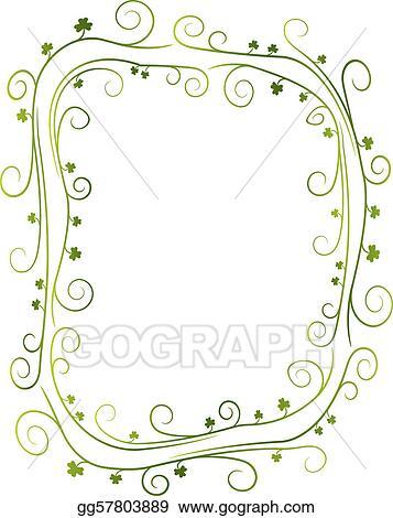 Vector Art - Swirly shamrock border EPS clipart gg57803889 - GoGraph