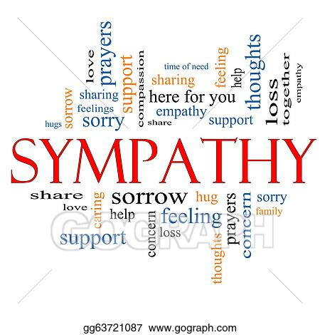 Stock Illustration - Sympathy word cloud concept Clipart gg63721087