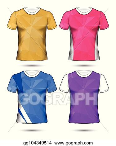 Clip Art Vector - T-shirt templates abstract geometric collection of
