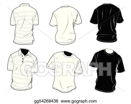 EPS Illustration - T-shirt templates Vector Clipart gg54268436